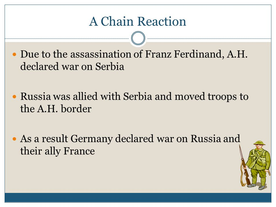 A Chain Reaction Due to the assassination of Franz Ferdinand, A.H.