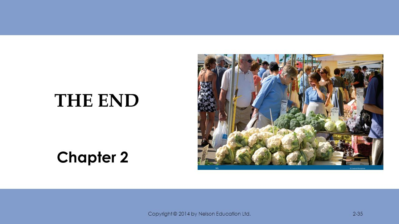 THE END Chapter 2 Copyright © 2014 by Nelson Education Ltd.2-35