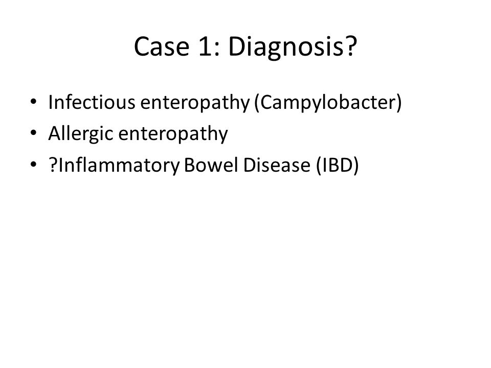 Case 1: Diagnosis.