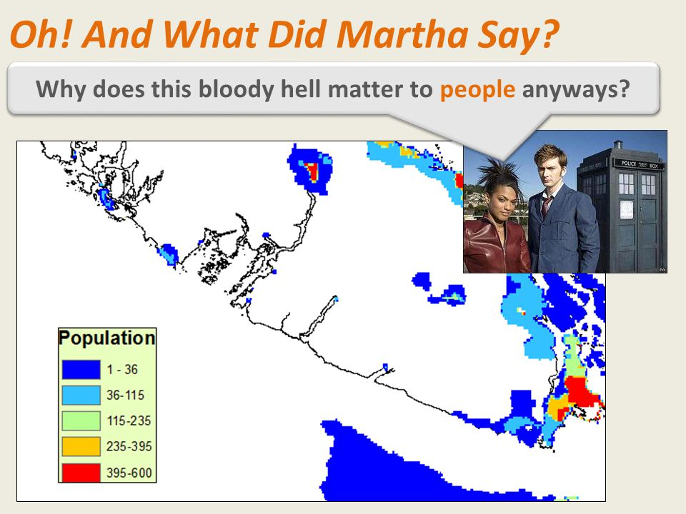 Why does this bloody hell matter to people anyways? Oh! And What Did Martha Say?
