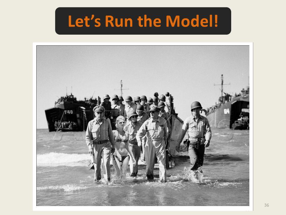 36 Let's Run the Model!