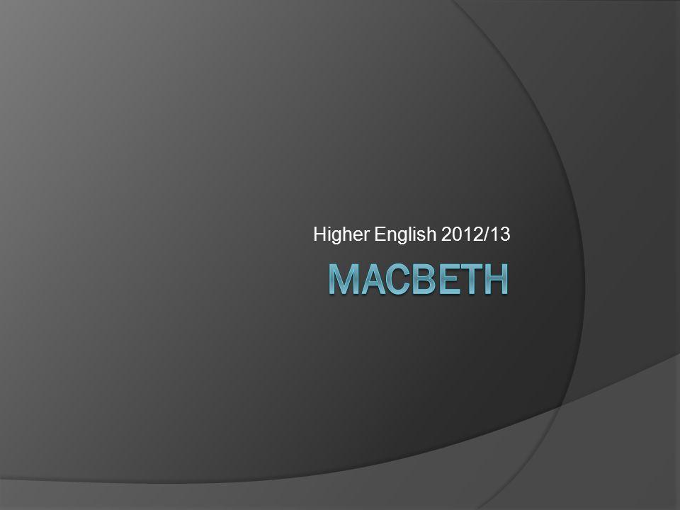 Higher English 2012/13