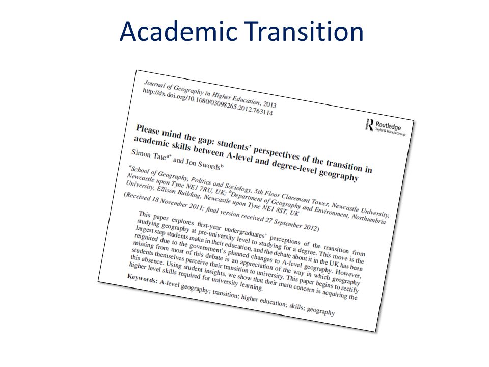 Academic Transition