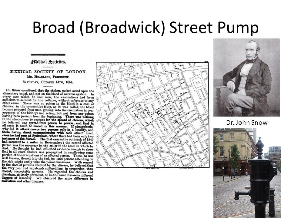 Broad (Broadwick) Street Pump Dr. John Snow