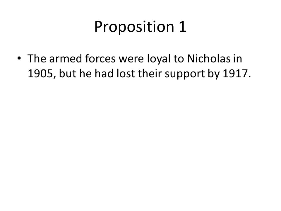 Far-fetched Few expected the Tsar to fall by 1914.