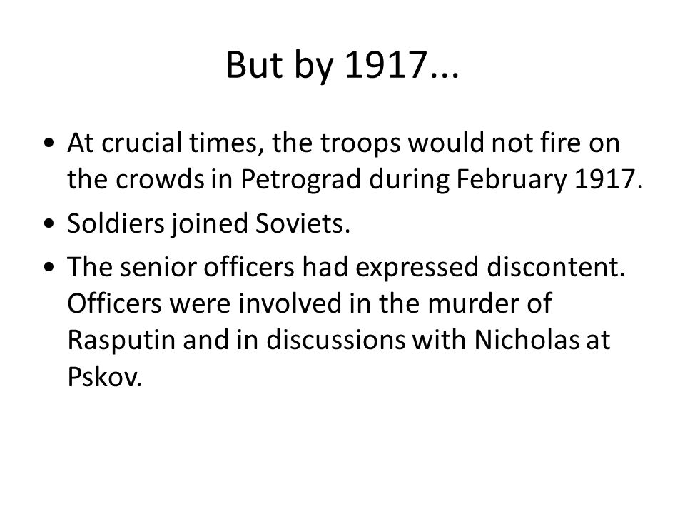 What were the immediate circumstances.The very large crowds in February.
