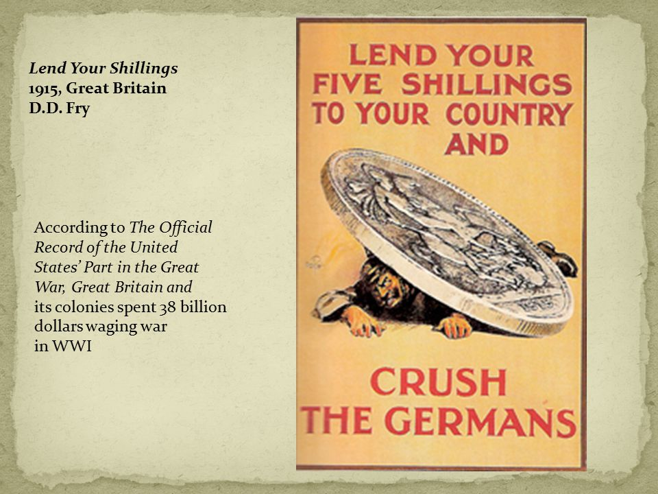 Lend Your Shillings 1915, Great Britain D.D.