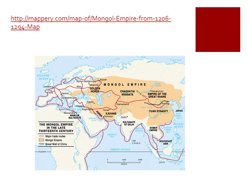  The Mongol army conquered through the use of fear.