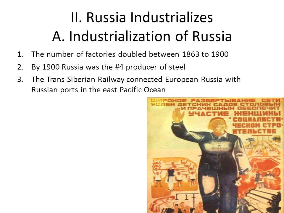 II.Russia Industrializes A.