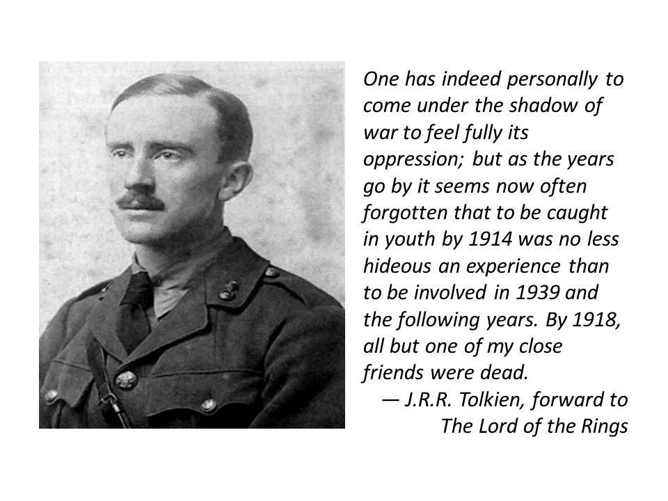 One has indeed personally to come under the shadow of war to feel fully its oppression; but as the years go by it seems now often forgotten that to be caught in youth by 1914 was no less hideous an experience than to be involved in 1939 and the following years.