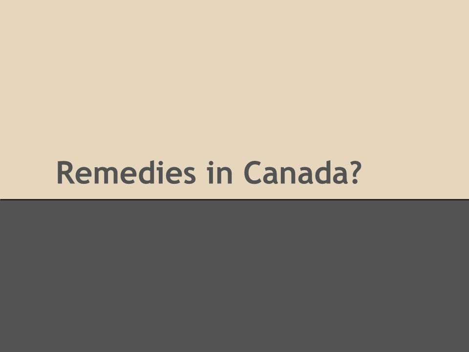Remedies in Canada