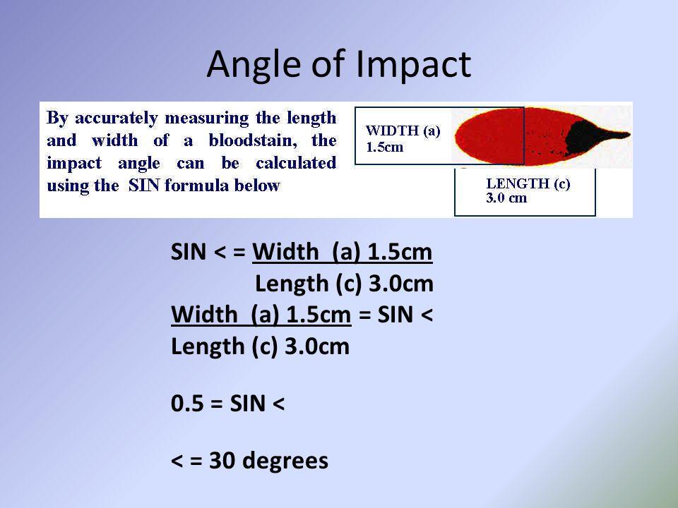 SIN < = Width (a) 1.5cm Length (c) 3.0cm Width (a) 1.5cm = SIN < Length (c) 3.0cm 0.5 = SIN < < = 30 degrees