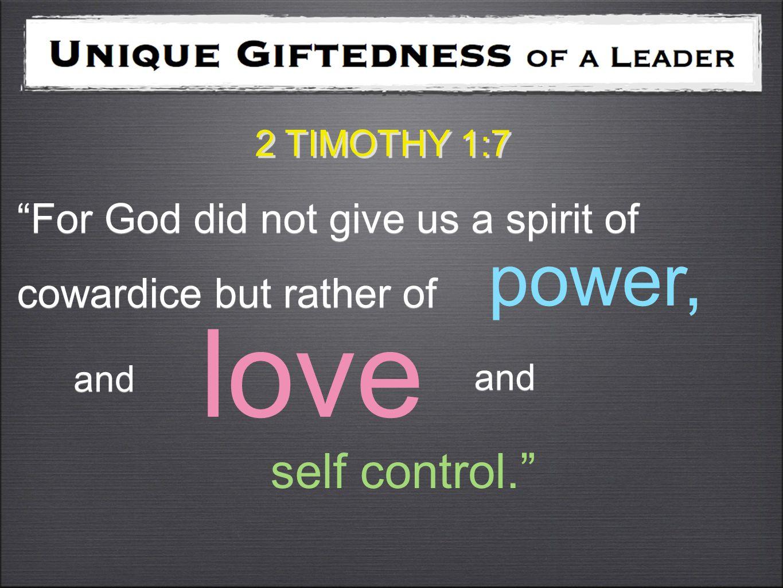 power self control love