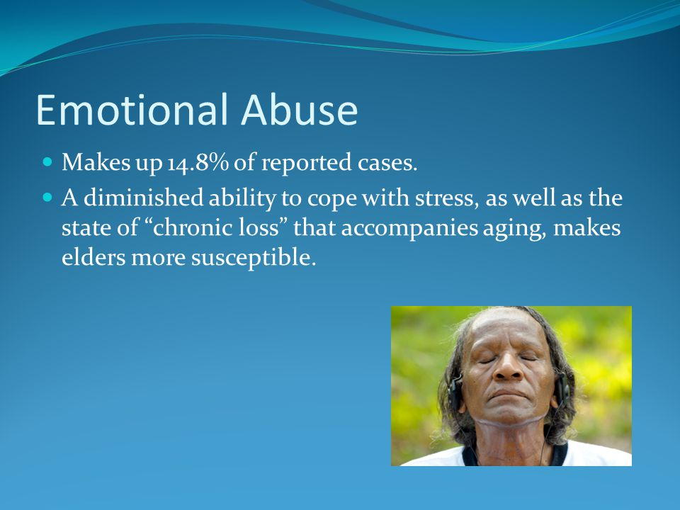 Emotional Abuse Makes up 14.8% of reported cases.
