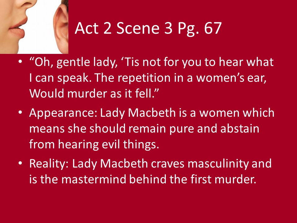 the masculinity of lady macbeth essay Rating: powerful essays open document essay preview images of masculinity and femininity in macbeth lady macbeth does not have the traditional role of 'mother', 'daughter', or 'wife' but 'partner' macbeth's letter refers to her as: 'my dearest partner in greatness' i (v) in spite of his military culture.