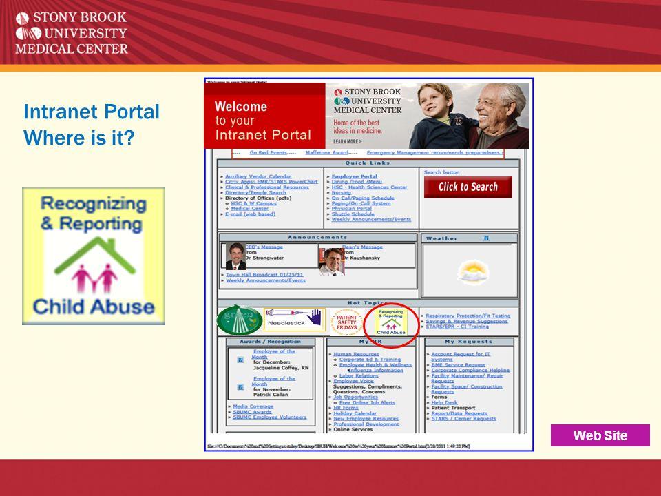 Intranet Portal Where is it? Web Site