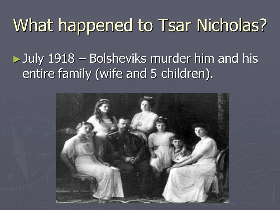 What happened to Tsar Nicholas.