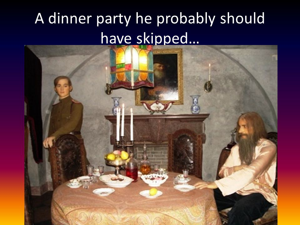 A dinner party he probably should have skipped…