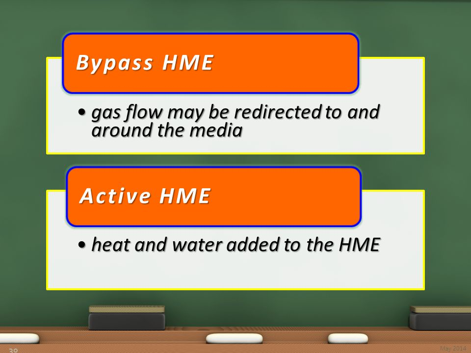 30 gas flow may be redirected to and around the mediagas flow may be redirected to and around the media Bypass HME heat and water added to the HMEheat