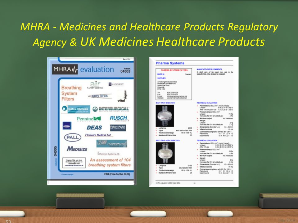 MHRA - Medicines and Healthcare Products Regulatory Agency & UK Medicines Healthcare Products 53 May 2014