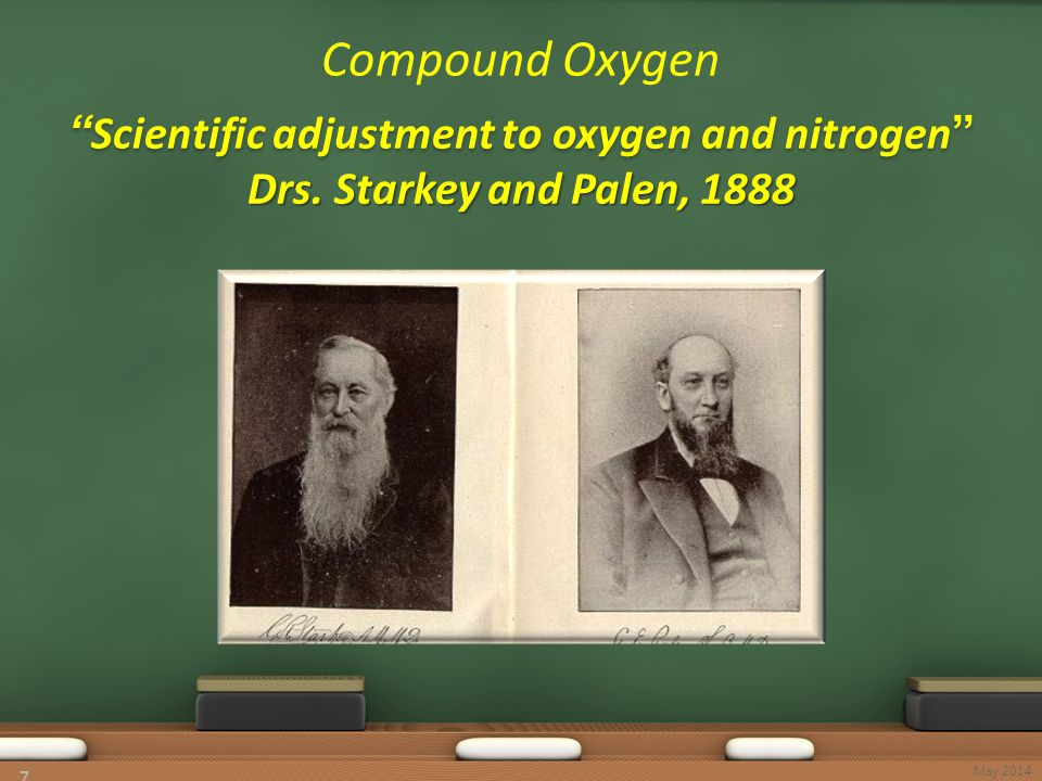 """Scientific adjustment to oxygen and nitrogen"" Drs. Starkey and Palen, 1888 Compound Oxygen ""Scientific adjustment to oxygen and nitrogen"" Drs. Starke"