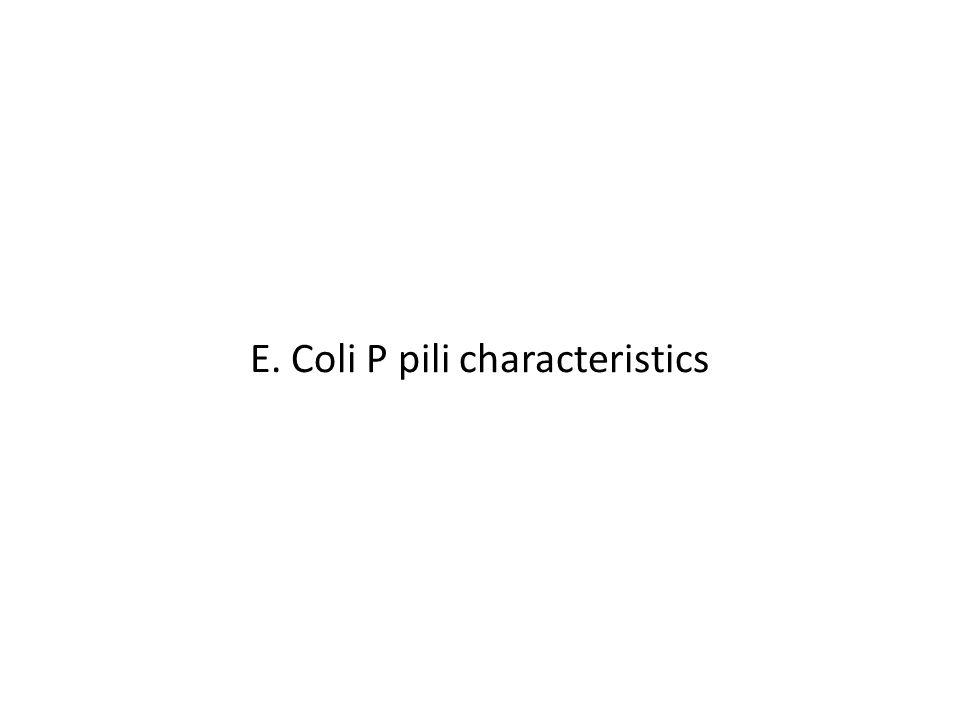 E. Coli P pili characteristics