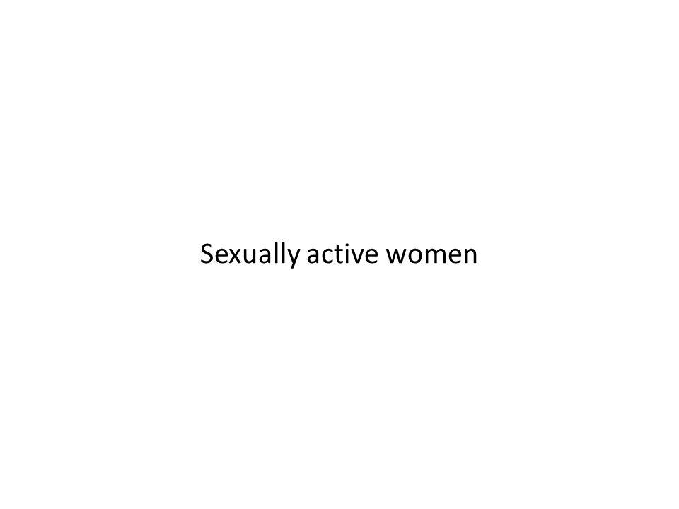 Sexually active women