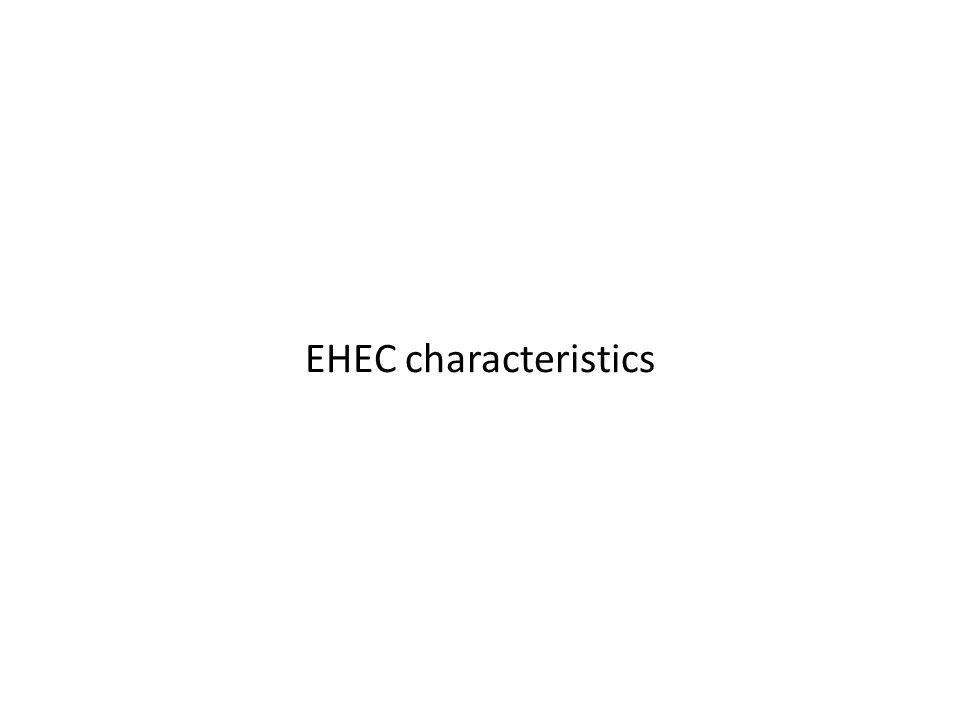 EHEC characteristics