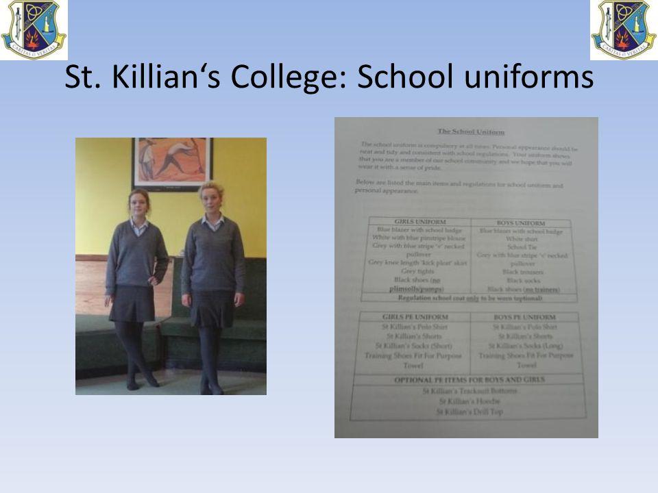 St. Killian's College: School uniforms