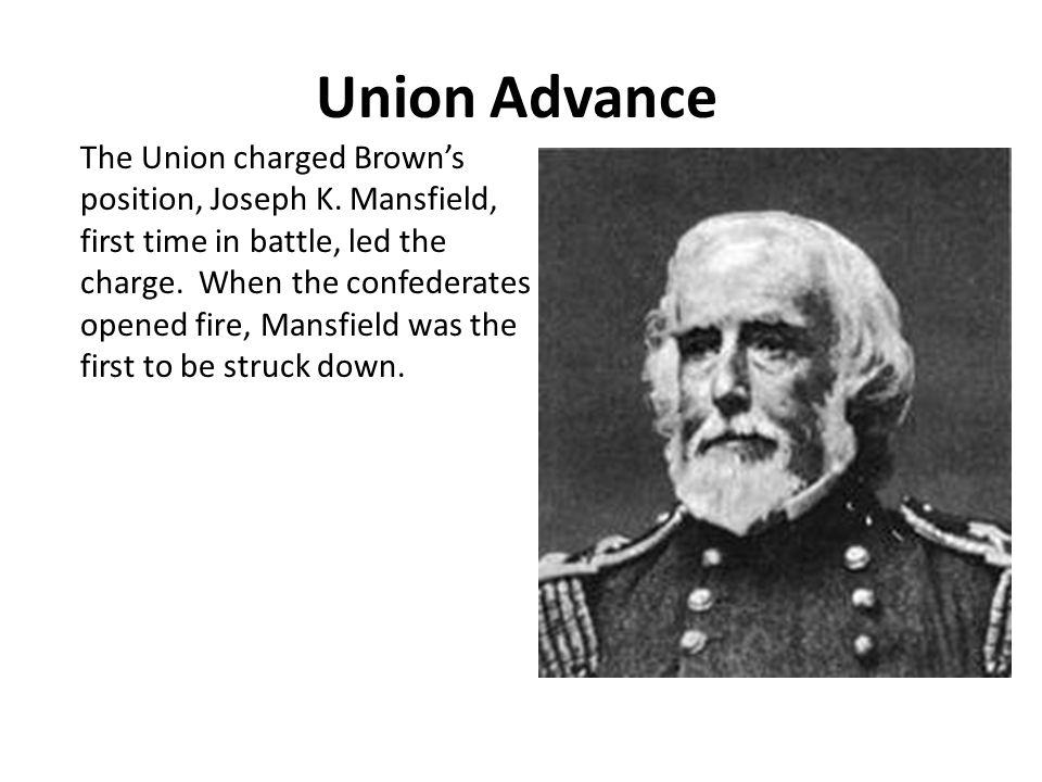 Union Advance The Union charged Brown's position, Joseph K.