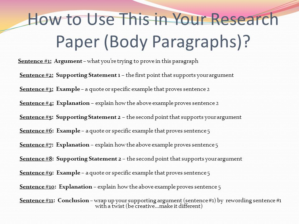 How to Use This in Your Research Paper (Body Paragraphs).