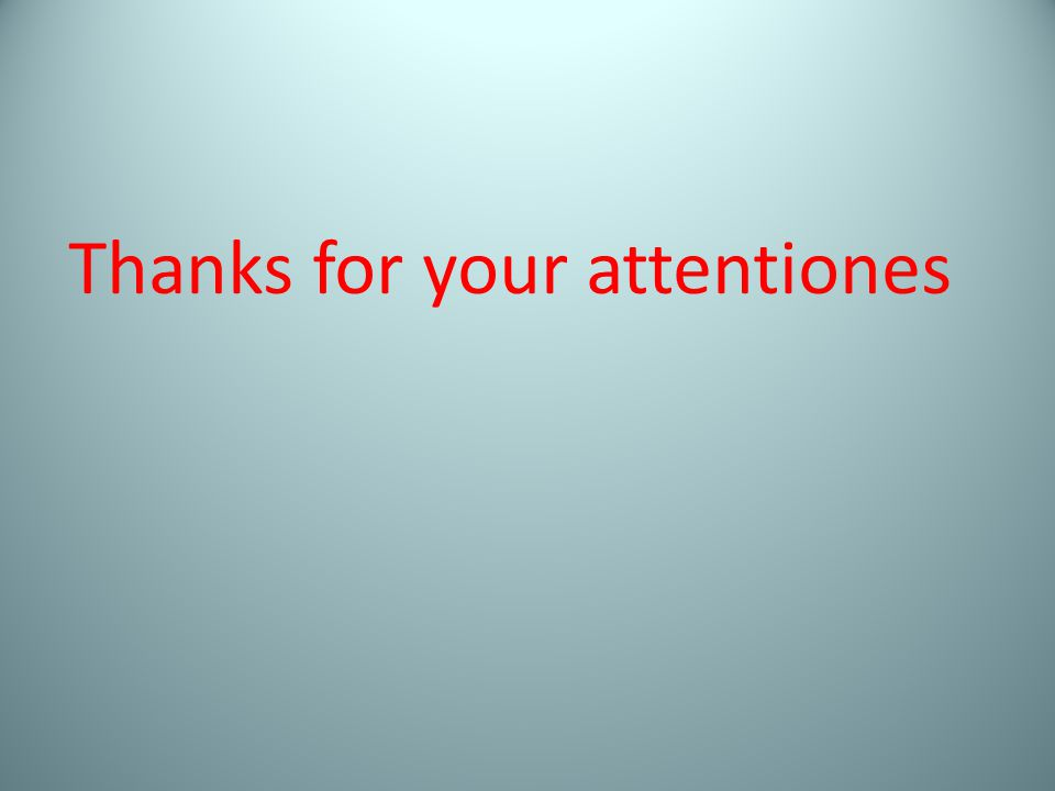 Thanks for your attentiones