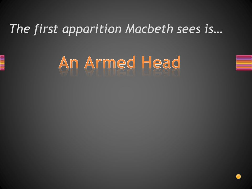The first apparition Macbeth sees is…