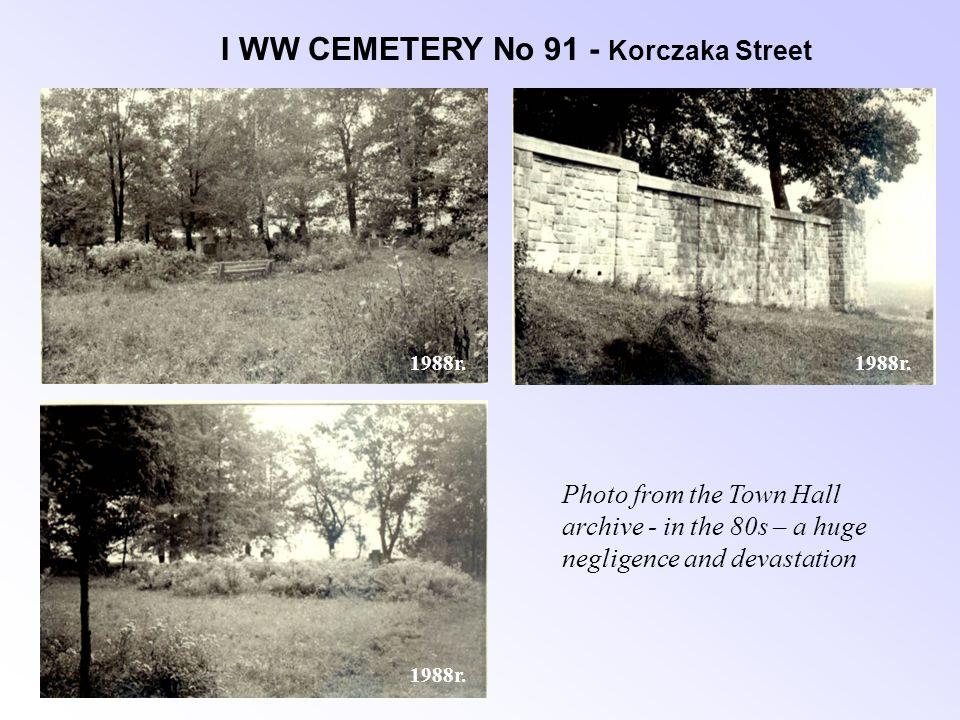 I WW CEMETERY No 91 - Korczaka Street 1988r.