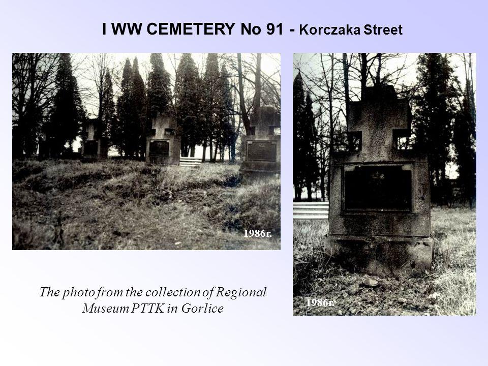I WW CEMETERY No 91 - Korczaka Street 1986r.