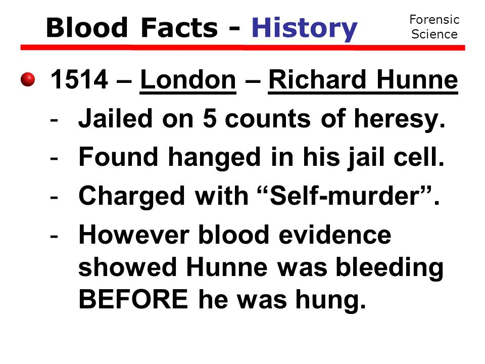 A Transfer Pattern Forensic Science Blood Facts