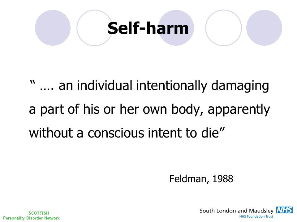 SCOTTISH Personality Disorder Network Self-harm ….