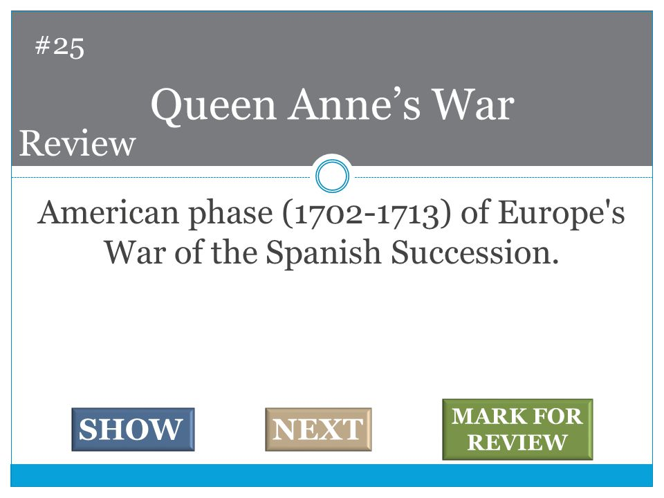 American phase (1702-1713) of Europe s War of the Spanish Succession.