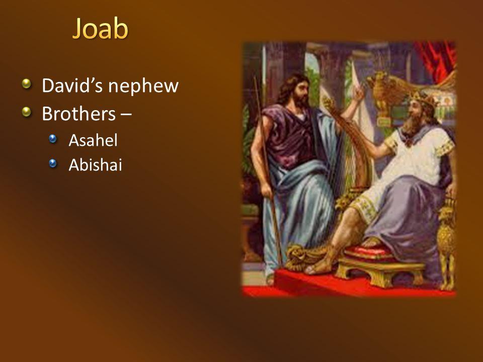 David's nephew Brothers – Asahel Abishai