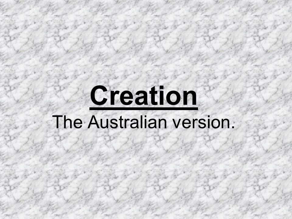 In the beginning God created day and night. He created day for footy matches, going to the beach …