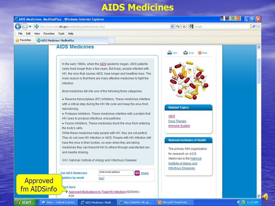 Treatment: AIDS medicines
