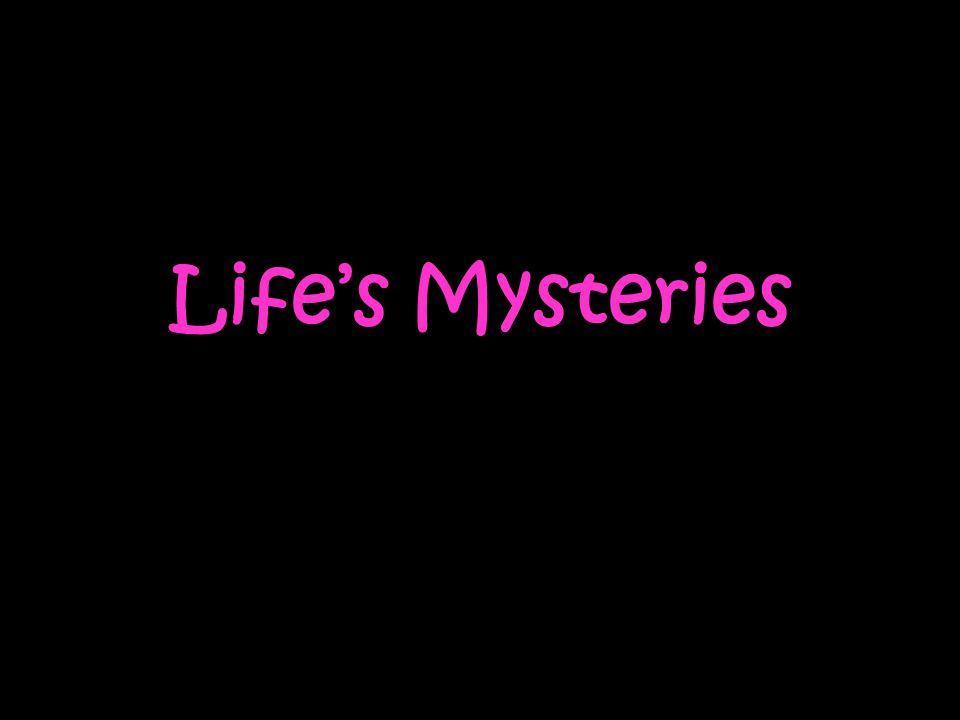 Life's Mysteries