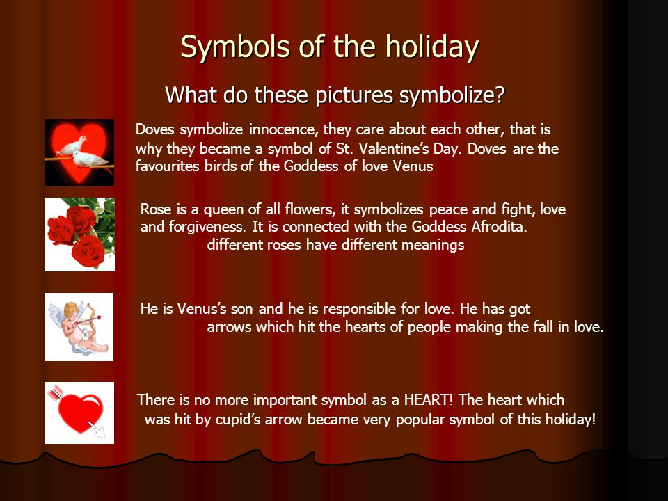 Symbols of the holiday What do these pictures symbolize.