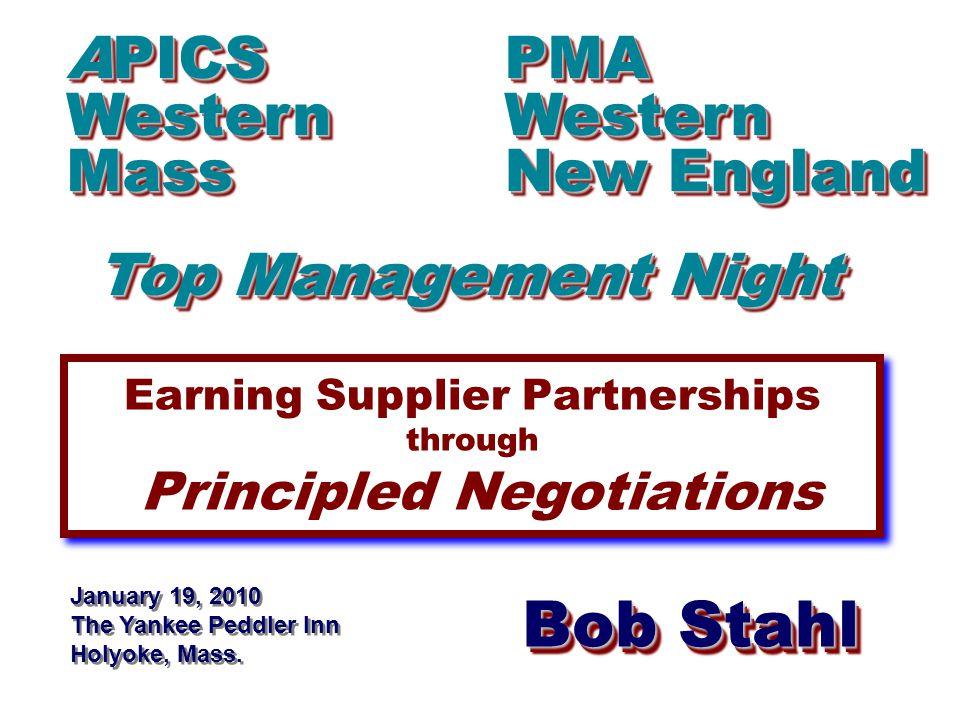 Bob Stahl www.RAStahlCompany.com Background...