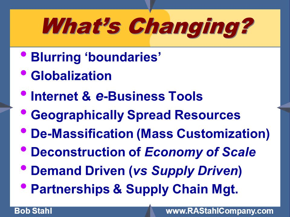 Bob Stahl www.RAStahlCompany.com Solution One Size does not fit all: Traditional  Positioned Negotiation - Chester Karrass Strategic Partnerships  Principled Negotiation - Roger Fisher Segmentation
