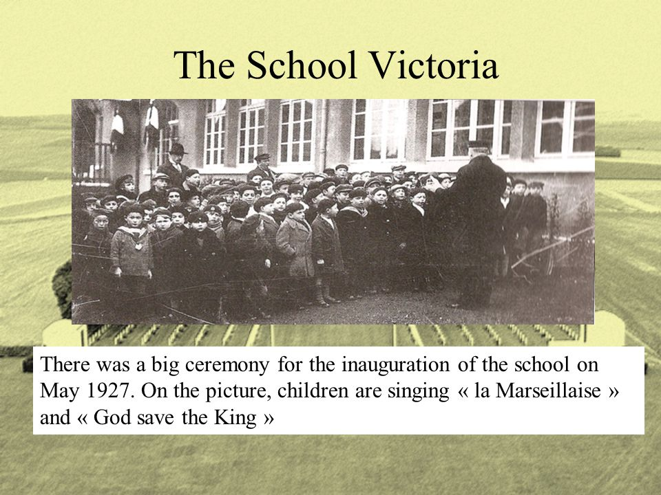 There was a big ceremony for the inauguration of the school on May 1927.