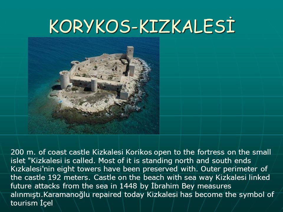 KORYKOS-KIZKALESİ 200 m. of coast castle Kizkalesi Korikos open to the fortress on the small islet