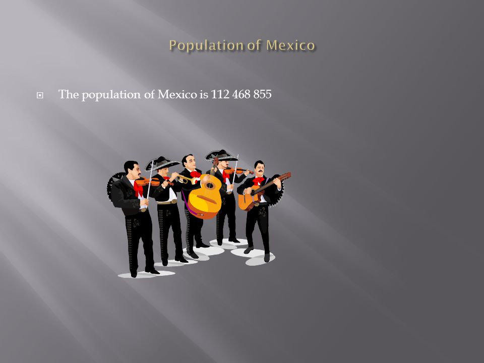  The population of Mexico is 112 468 855