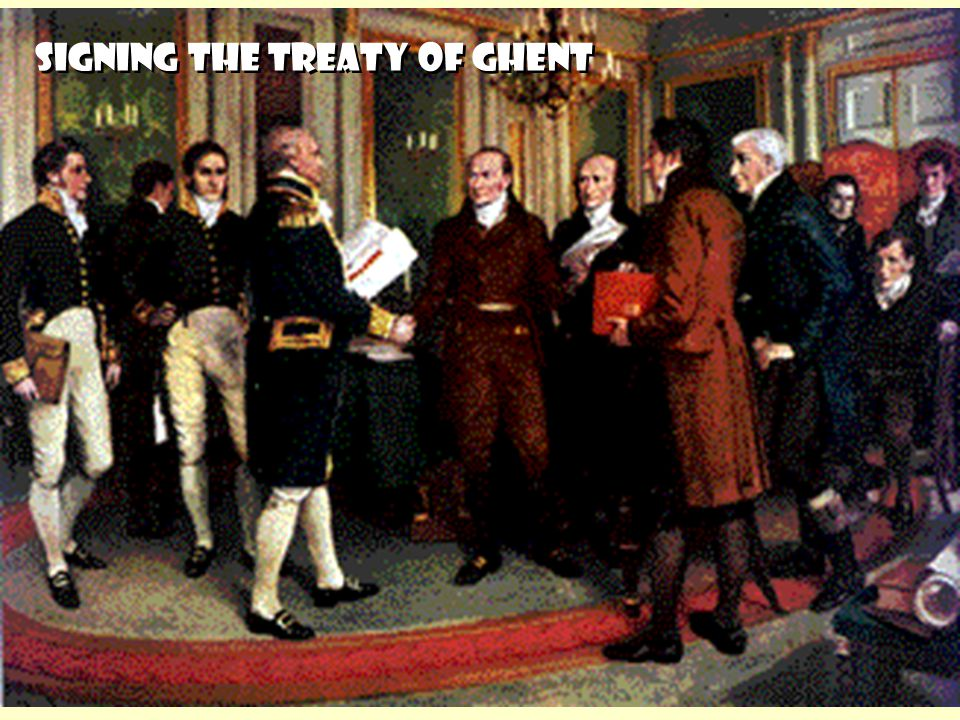 SIGNING THE TREATY OF GHENT