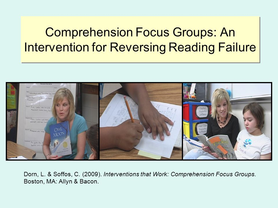 Key Concepts of Comprehension Focus Groups  Over a sustained period of time (6-9 weeks), the students read and compare texts within the genre study.